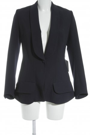 Yves Saint Laurent Woll-Blazer dunkelblau Brit-Look