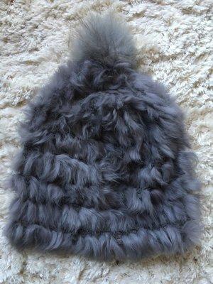 Yves salomon Cappello in pelliccia multicolore