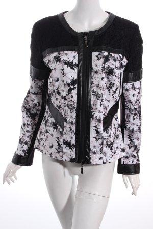 Z by Zucchero Blouson schwarz-hellrosa florales Muster Casual-Look
