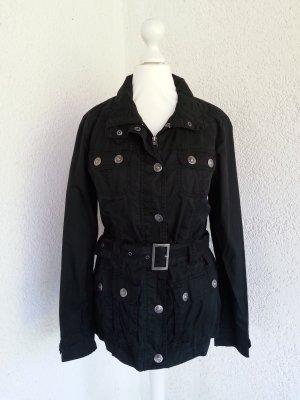 Zabaione coole Trenchcoat-Jacke schwarz Gr.36/S