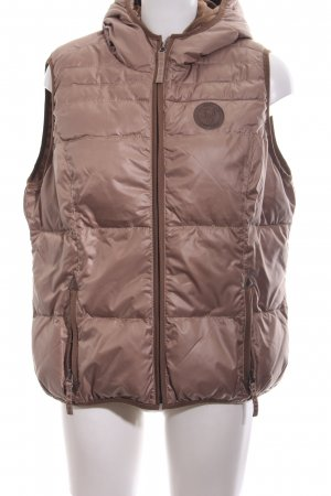 Zabaione Hooded Vest bronze-colored casual look