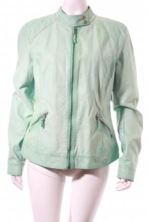 Zabaione Kunstlederjacke mint Street-Fashion-Look