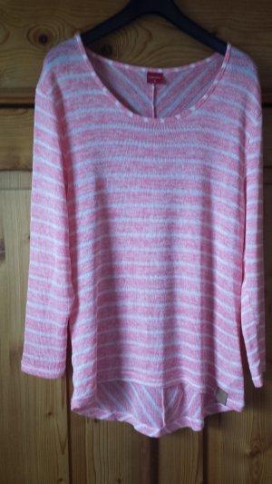 Zabaione Camisa larga salmón-blanco