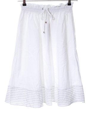 Zabaione Midirock weiß-schwarz Streifenmuster Casual-Look