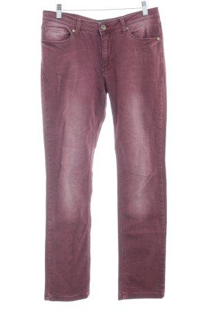 Zabaione Slim Jeans braunrot-hellbeige Casual-Look