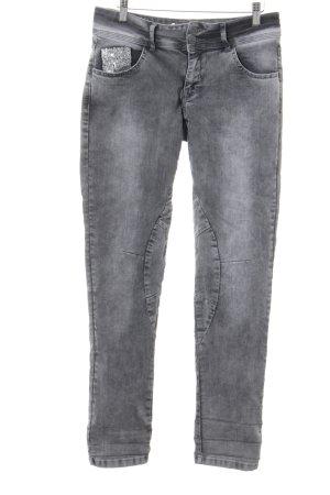 Zabaione Slim Jeans grau Glitzer-Optik