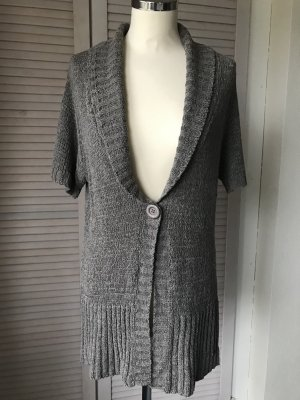 Zabaione Short Sleeve Knitted Jacket grey brown