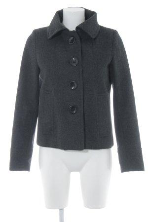 Zabaione Wolljacke dunkelgrau-schwarz meliert klassischer Stil