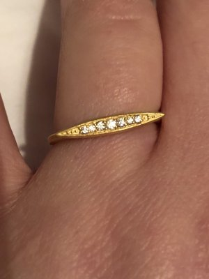 Silver Ring gold-colored