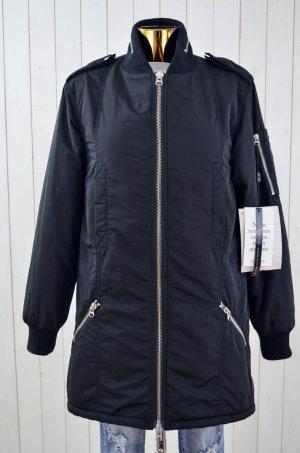 ZADIG&VOLTAIRE Damen Jacke Mantel Gefüttert Fellimitat Schwarz Beige Polyester S