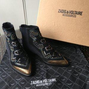 Zadig&Voltaire Designer-Stiefeletten Steiefel Boots aus Leder wie neu!