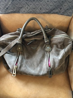 Zadig & Voltaire Shoulder Bag grey brown
