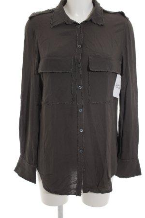 Zadig & Voltaire Chemise à manches longues gris style décontracté