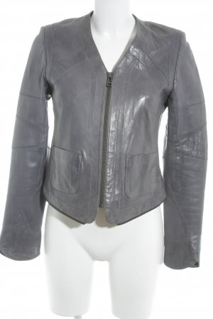 Zadig & Voltaire Lederjacke anthrazit Casual-Look
