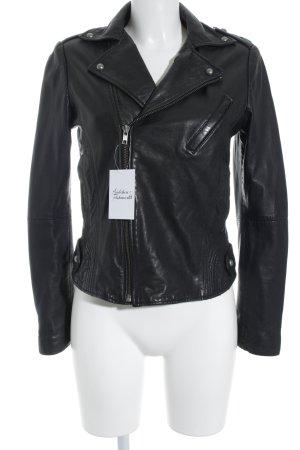 Zadig & Voltaire Leather Jacket black biker look