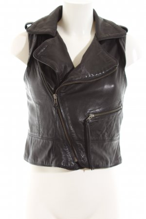 Zadig & Voltaire Leather Vest black party style