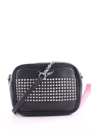 Zadig & Voltaire Mini sac noir-argenté motif de tache style décontracté