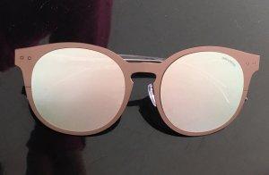 * ZADIG & VOLTAIRE * oversize Sonnenbrille METALL grau VERSPIEGELT silber Wechselgläser