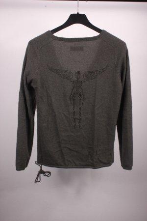 Zadig & Voltaire Pullover dunkelgrün 100% Kaschmir Gr. 36 S