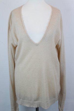 Zadig & Voltaire Maglione lavorato a maglia crema Cachemire