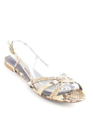 Zadig & Voltaire Riemchen-Sandalen beige-braun Reptil-Optik