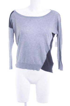 Zadig & Voltaire Kraagloze sweater grijs-zwart casual uitstraling