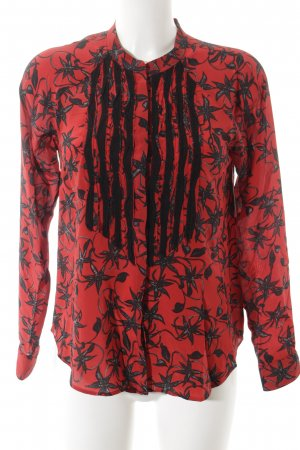 Zadig & Voltaire Seidenbluse schwarz-rot florales Muster