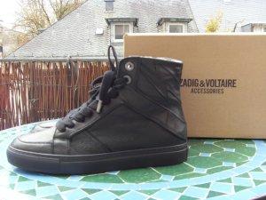 Zadig&Voltaire Sneaker High Flash ZV1747 schwarz Gr 37 WIE NEU!!!