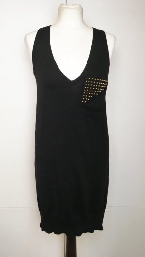 Zadig & Voltaire Knitted Dress black-gold-colored cotton