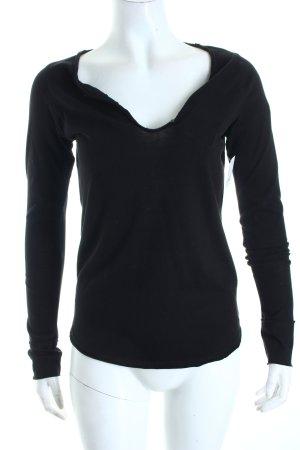 Zadig & Voltaire Sweatshirt schwarz-weiß Schriftzug gedruckt sportlicher Stil