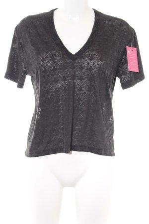 Zadig & Voltaire T-Shirt dunkelgrau Motivdruck Gothic-Look