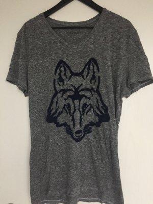 Zadig&Voltaire T-Shirt grau meliert mit Aufdruck