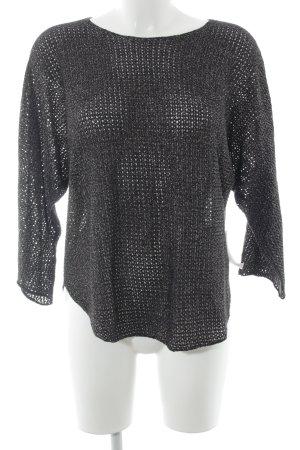 Zadig & Voltaire Transparenz-Bluse schwarz-goldfarben Glanz-Optik