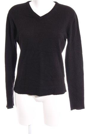 Zadig & Voltaire V-Ausschnitt-Pullover schwarz Casual-Look