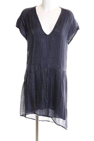 Zadig & Voltaire Vokuhila-Kleid lila Streifenmuster Elegant