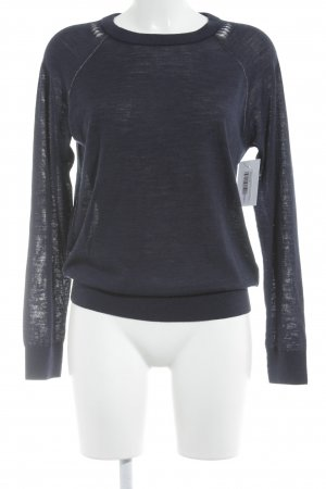Zadig & Voltaire Wool Sweater dark blue classic style