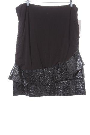 ZAEK Jupe à plis noir style décontracté