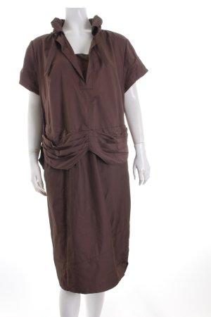 ZAEK Robe de cocktail brun style extravagant