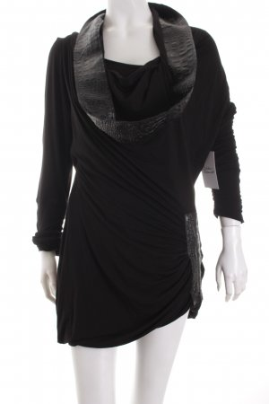 ZAEK Top schwarz Biker-Look