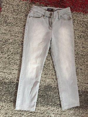 ZAFFIRI Slim Jeans hellgrau Casual-Look