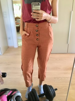 Zaful Pantalón de lino coñac