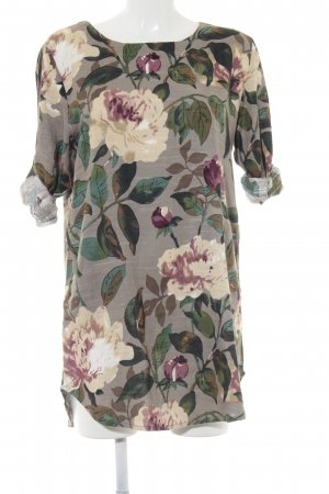 Zaful Vestido estilo camisa estampado floral estilo hippie