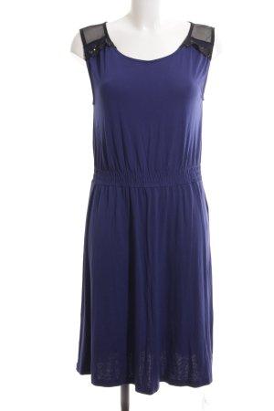 Zalando A-Linien Kleid blau-schwarz Business-Look