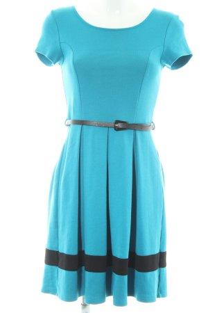 Zalando A-Linien Kleid kornblumenblau-schwarz 50ies-Stil
