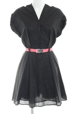 Zalando Collection Blusenkleid schwarz Casual-Look