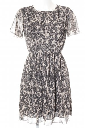 Zalando Collection Kurzarmkleid anthrazit-nude florales Muster Casual-Look