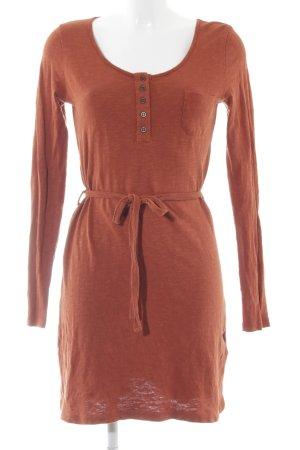 Langarm kleid orange