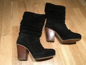 Zalando Collection Botas con plataforma negro Gamuza