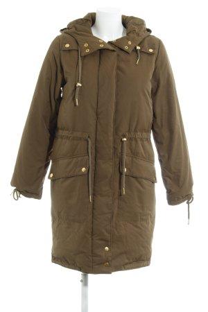Zalando Collection Manteau d'hiver vert olive style décontracté