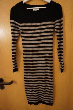 Zalando Gebreide jurk beige-zwart